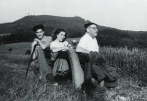 With daughter Adriena and Angelo Ragusa in Světlá pod Luží